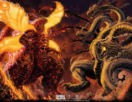 Burning Godzilla vs King Ghidorah