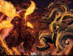 Burning Godzilla vs King Ghidorah