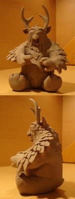Owlbear sculpture