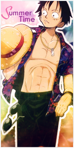 Luffy Summer Time by Freeze1992