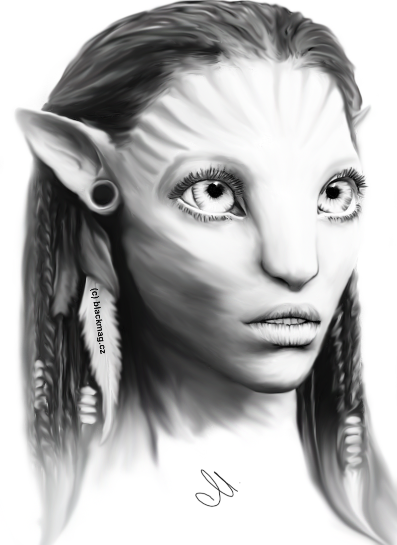 Neytiri painting by perlaque