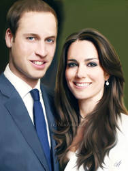 Kate and Will painting by perlaque