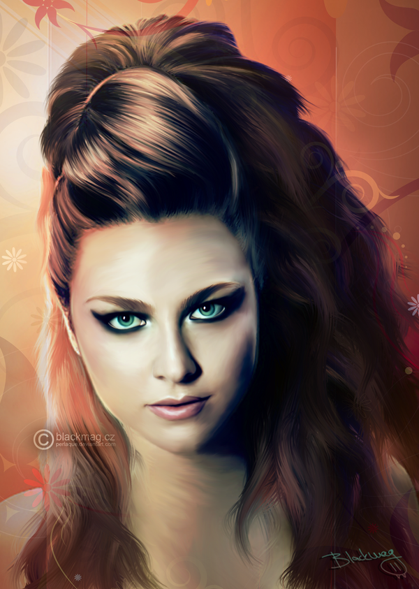 Amy Lee painting by perlaque