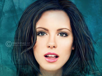 Kate Beckinsale Painting by perlaque