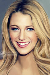 Blake Lively painting by perlaque