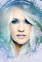 Carrie Underwood painting by perlaque