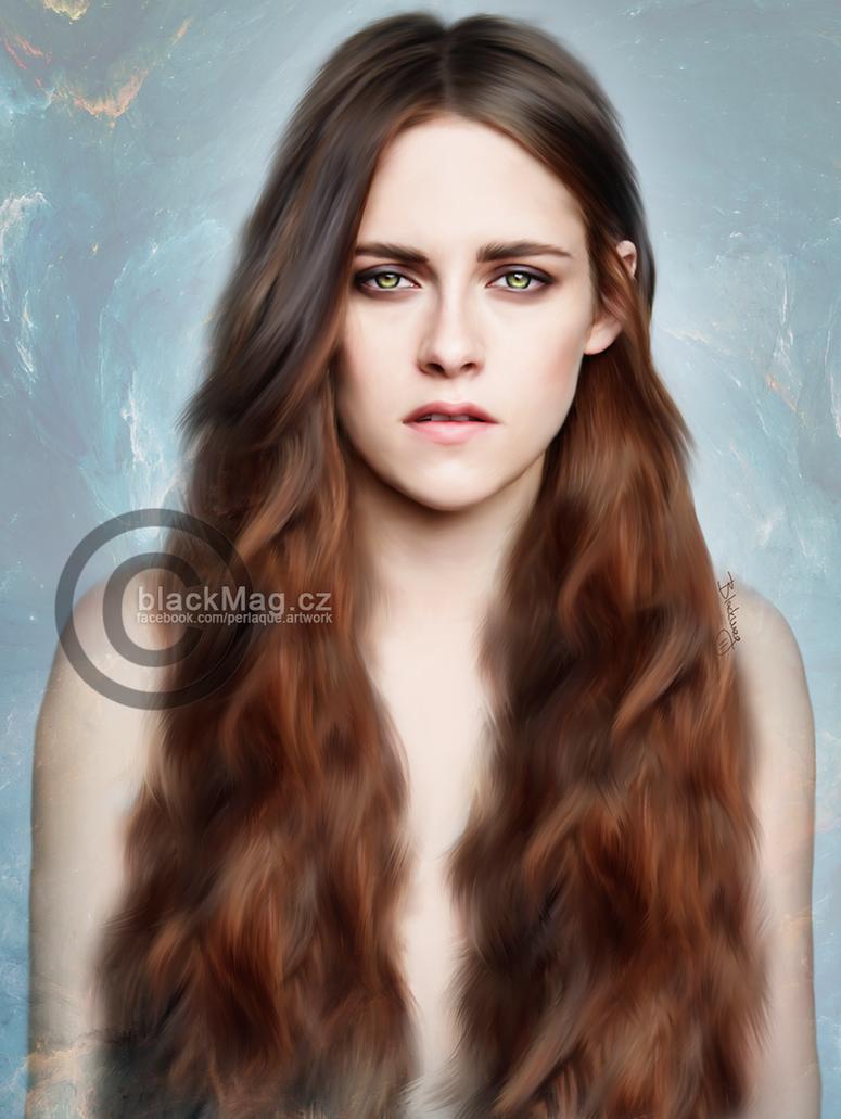 Kristen Stewart Painting by perlaque