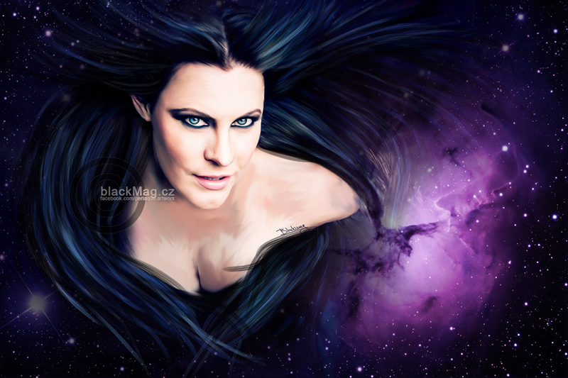 Floor Jansen Painting by perlaque