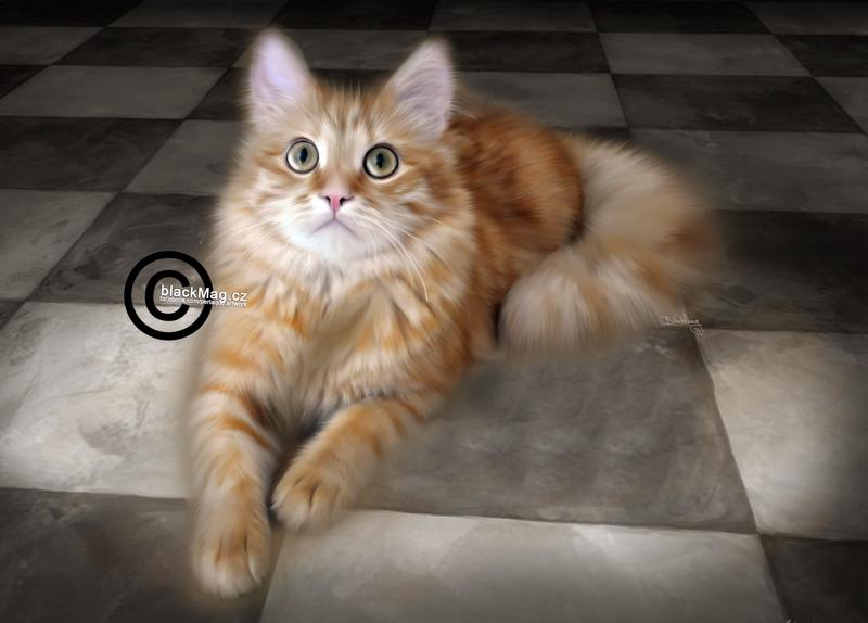 Cat Painting by perlaque