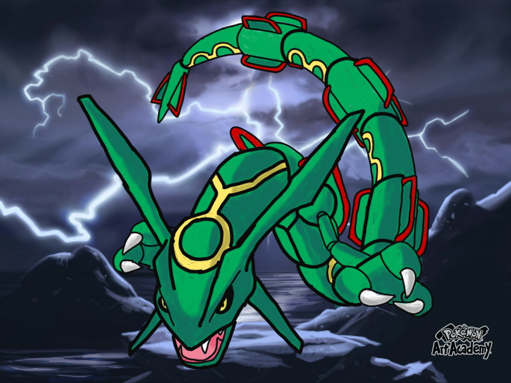 Pokemon Art Academy Picture Rayquaza 503092539
