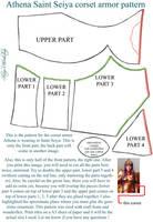 Front corset armor pattern - Athena Saint Seiya by ShinjusWorkshop