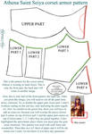 Front corset armor pattern - Athena Saint Seiya