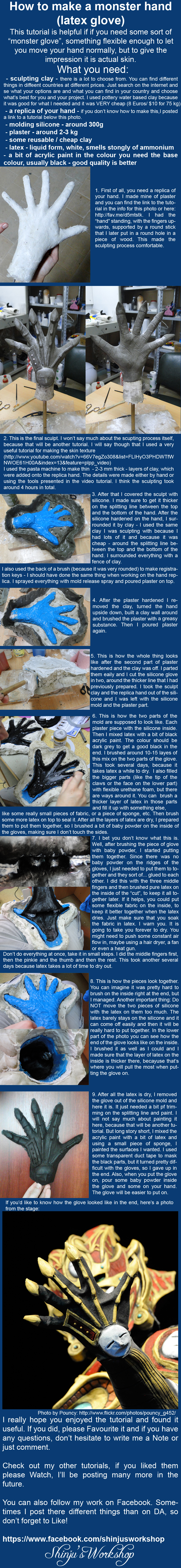 Tutorial: How to make a latex glove by ShinjusWorkshop
