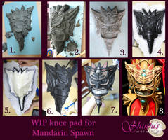 WIP Knee Pad Mandarin Spawn Cosplay by ShinjusWorkshop