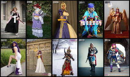 My Cosplay timeline up to 2014