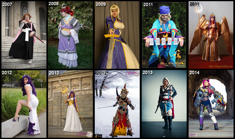 My Cosplay timeline up to 2014 by ShinjusWorkshop