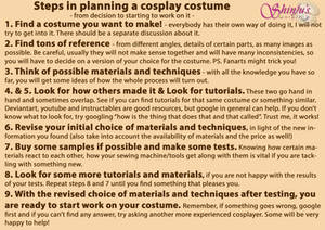 Steps In Planning A Cosplay Costume
