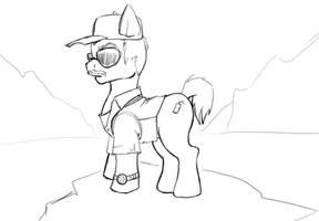 Burt Gummer Pony