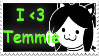 I Love Temmie Stamp by SparkleWolfey