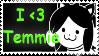 I Love Temmie Stamp by SparkleWolfey