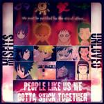 Naruto, Garra, Sasuke, and Neji People like us by NarutoNinjaRamen