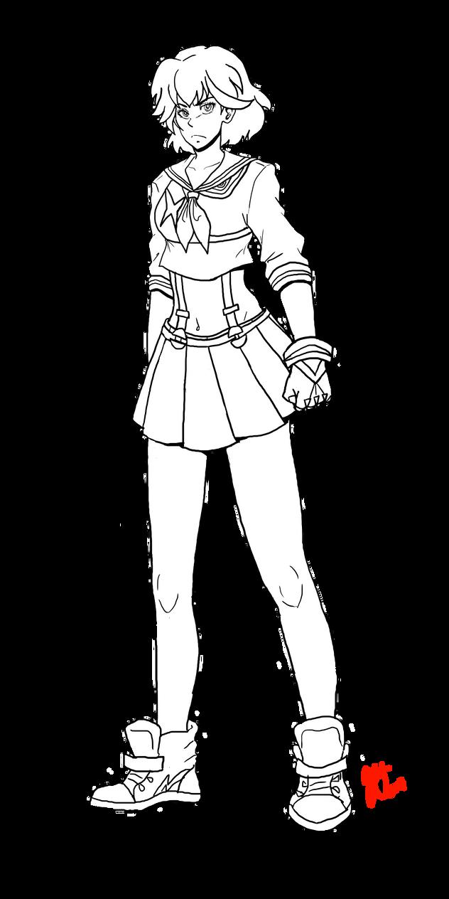 Kill La Kill Ryuko Lineart By Ranryo82 On Deviantart