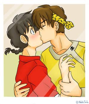 Ranma 1/2 - Ranma and Ryoga - First move