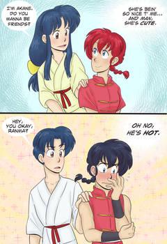 Ranma 1/2 - Ranma and Akane - Oh no he's hot