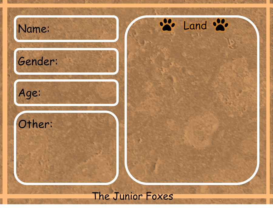 The Junior Foxes App. Land by AkiraInugamiWolf