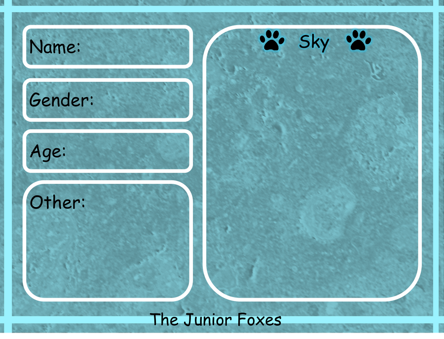The Junior Foxes App. Sky by AkiraInugamiWolf