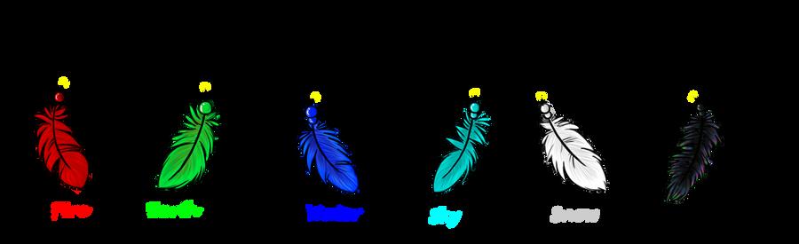 Feather Elements by AkiraInugamiWolf