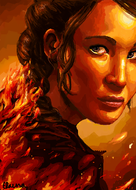 katniss everden is a girl ith Katniss everdeen of the hunger games is the main character and narrator she is described to have black hair, grey eyes and olive skin she goes to secondary school in district 12, which is an impoverished coal-mining region in panem.