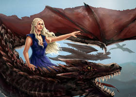 Daenerys Targaryen - Mother of Dragons by elaina-f