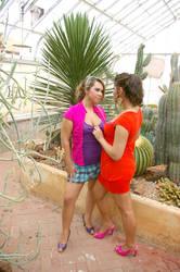 Lesbian Taking in the Garden