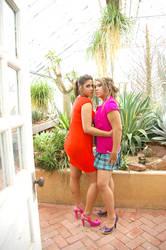 Lesbian Taking in the Garden 2