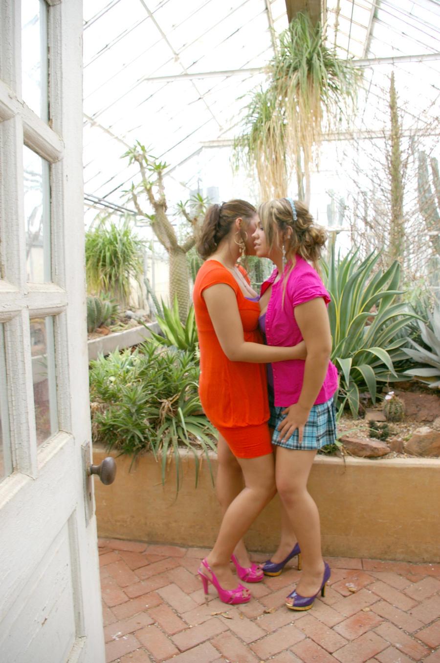 Lesbian Taking in the Garden 3