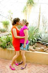 Lesbian Taking in the Garden 4