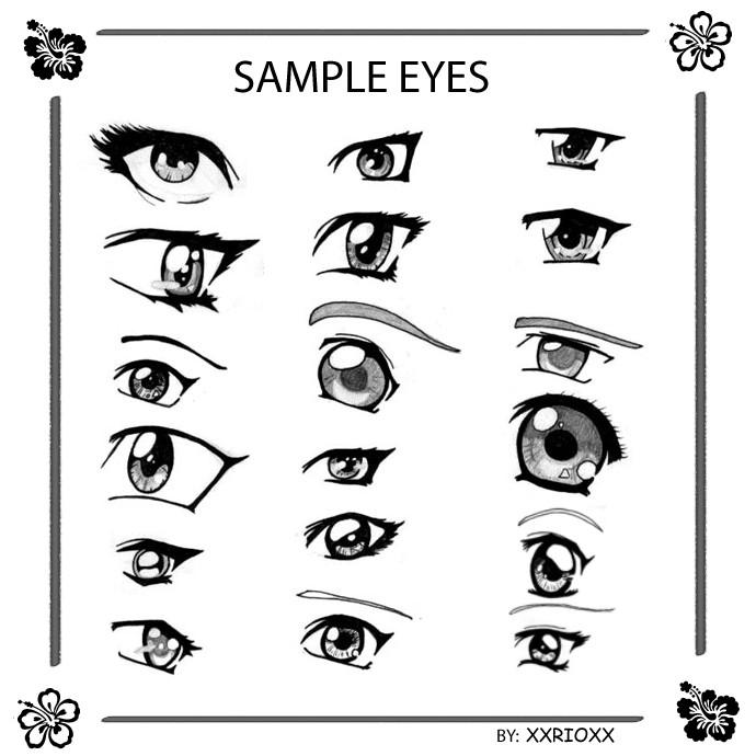 Sample Anime Eyes By Xxrioxx