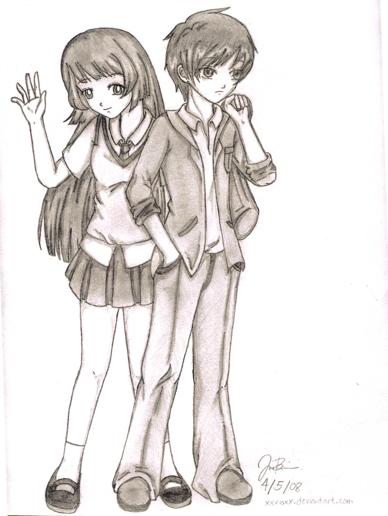 Random Anime Couple by xxrioxx on DeviantArt