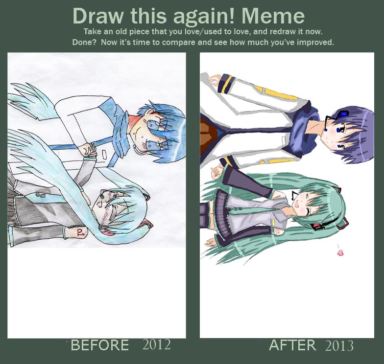 draw this again meme template - draw this again meme by natsune squirrel on deviantart