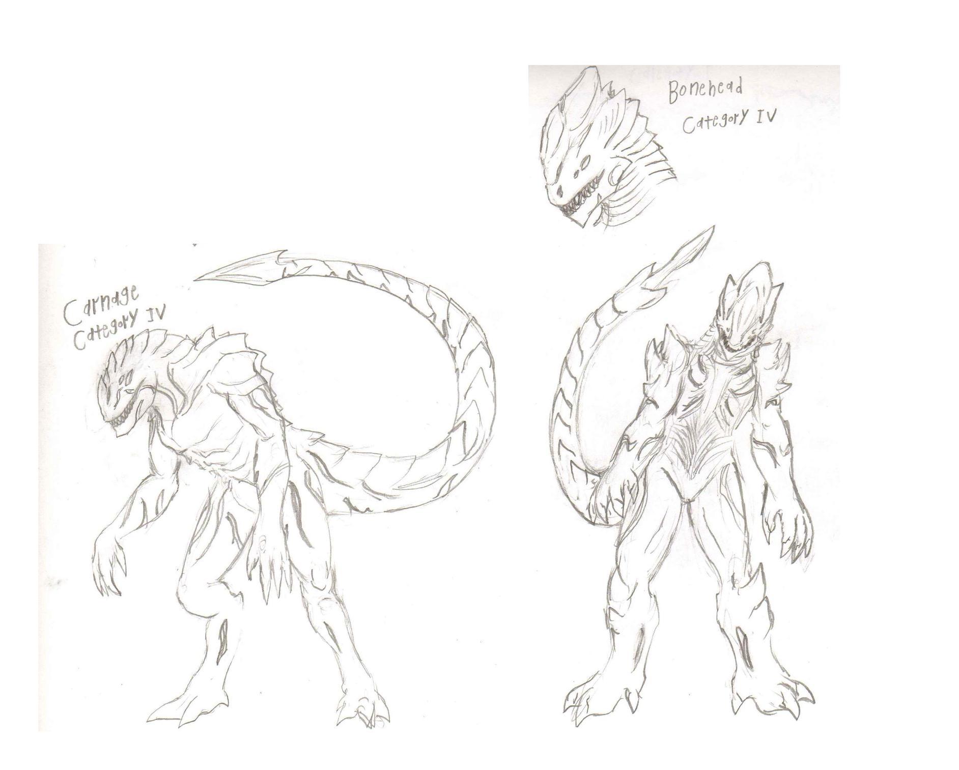AdventDestiny's Kaiju Fan-Art Gallery Pr_carnage_sketches_by_adventdestiny-d6tswal