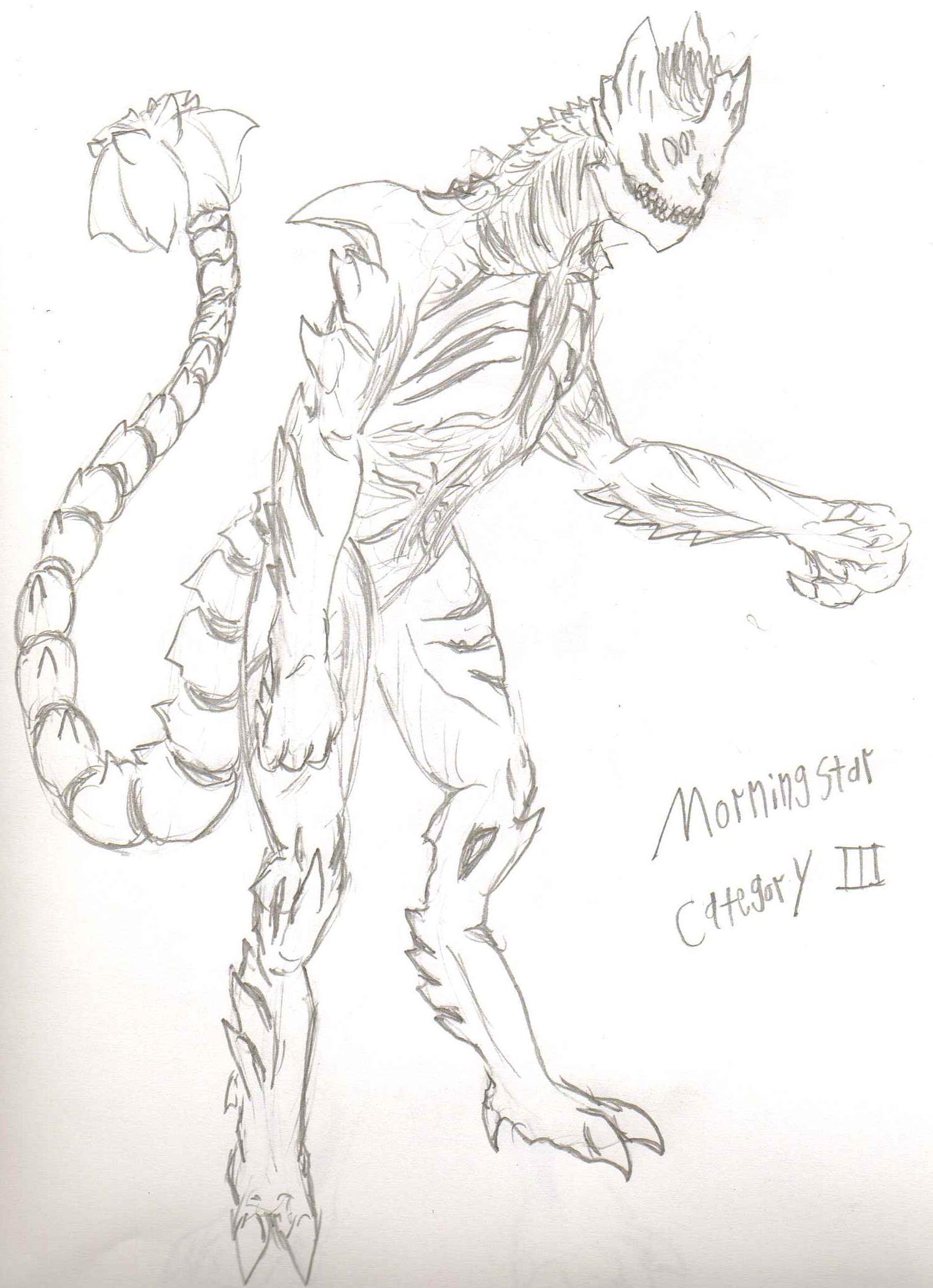 AdventDestiny's Kaiju Fan-Art Gallery Pr_morningstar_sketch_by_adventdestiny-d6tswjx
