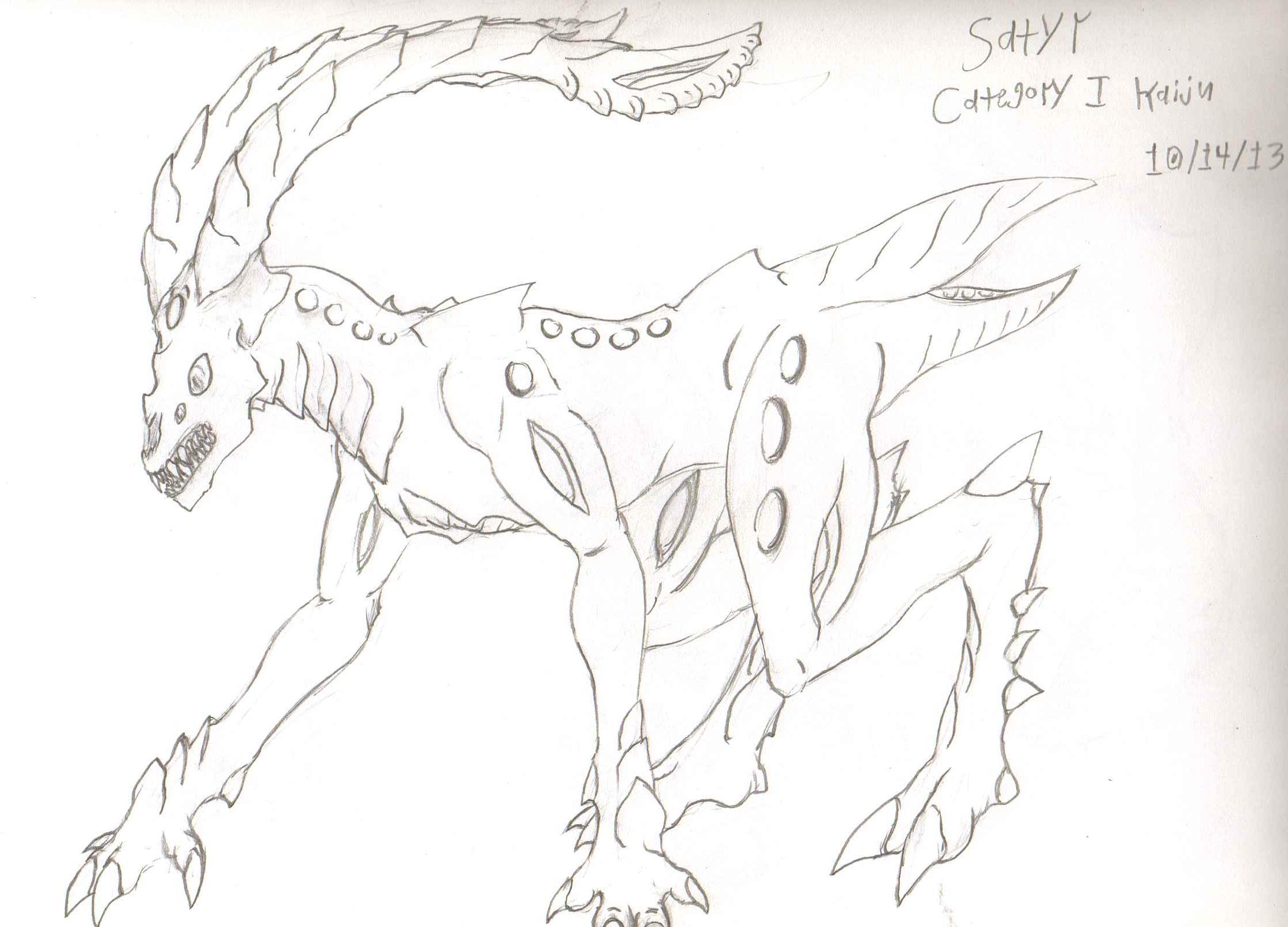 AdventDestiny's Kaiju Fan-Art Gallery Pr_satyr_sketch_by_adventdestiny-d6tt2tn