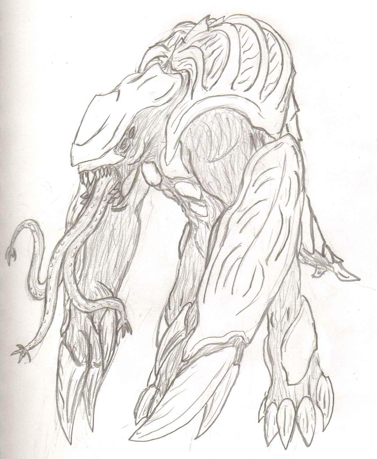 AdventDestiny's Kaiju Fan-Art Gallery Pr_taranias__maelstrom__sketch_by_adventdestiny-d6uaesi