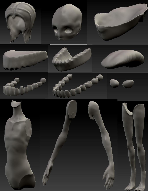 Siren Model Pre-Development 10 by AdventDestiny