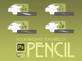 4 Pencil Textures for Brushes on PS by Kitty-Winder