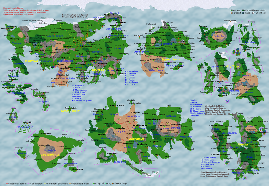 Africa Map Cities%0A zamunda africa map mlp pony series world map by lz     on deviantart