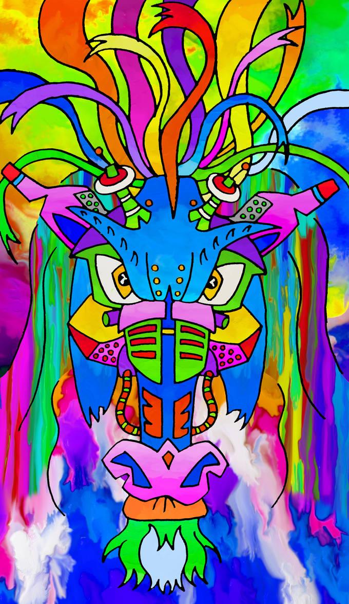 -Iron horse-Caballo de hierro- Color by Inkolored