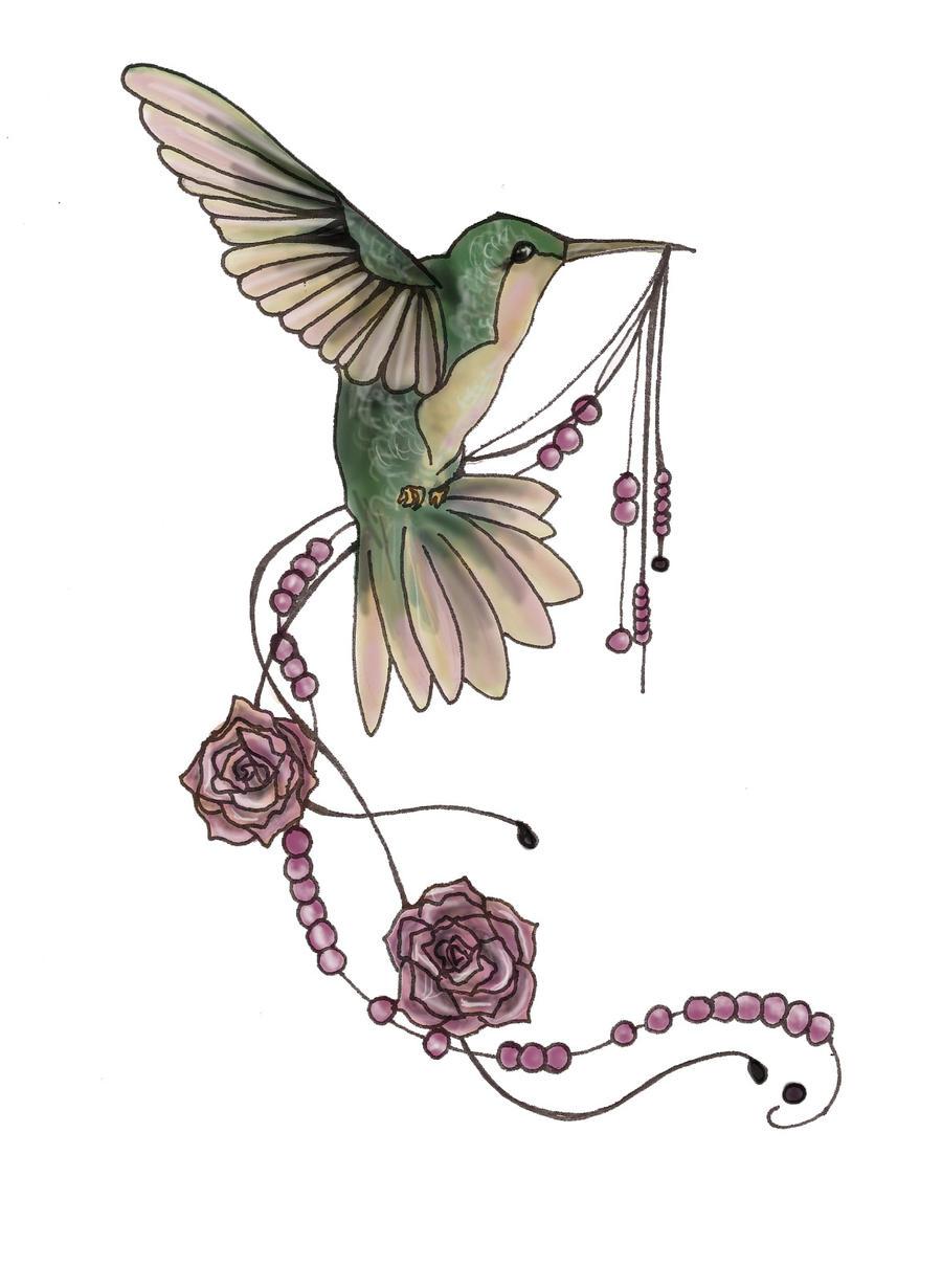 humming rose tattoo design by ticktock neko on deviantart. Black Bedroom Furniture Sets. Home Design Ideas
