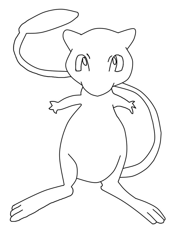 Pokemon mew by ansemporo002 on deviantart for Mew coloring pages
